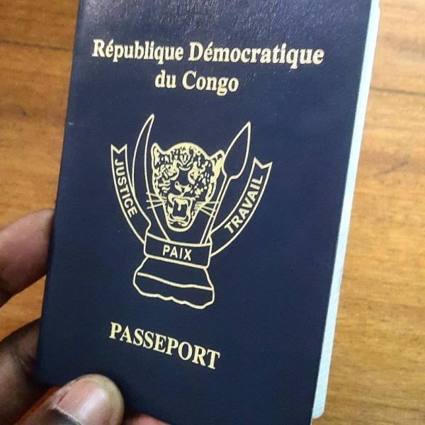 photo illustrative du passeport congolais